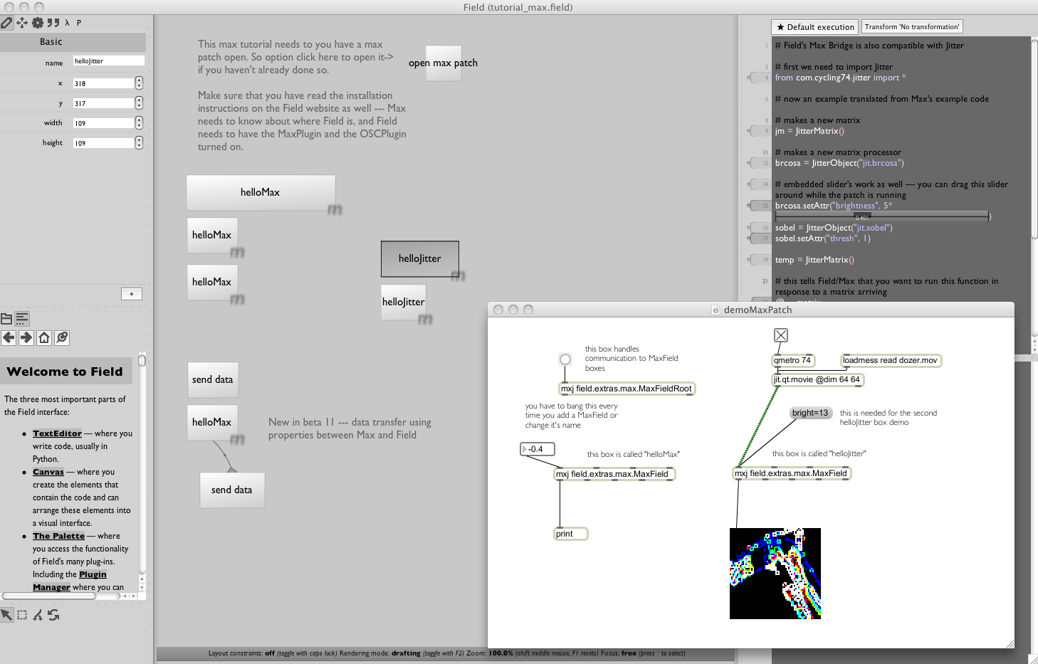 Tutorialmaxg this tutorial demos the max plugin fields bridge to max the eld file contains the max patch that it needs to talk to baditri Gallery