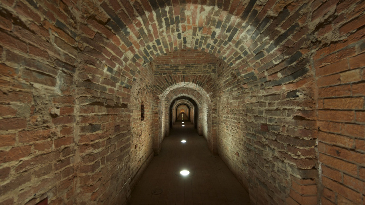 Secret passageway of the Peter and Paul Fortress