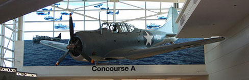 SBD Dauntless Dive-Bomber, detail of photograph by Auntie C found on flickr.com