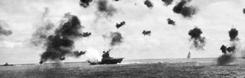 Bombing of USS York, 1942 (US Archives)